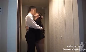 milf japanese wife cheat with boss - visit AmateurMilfTube.com for more videos