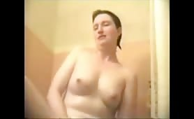Wife Dildo Orgasm in Shower