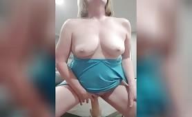 Suzi Rides Huge  Dildo Shows Perfect Tits