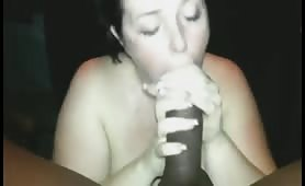 Chubby girl is a real dick pleaser