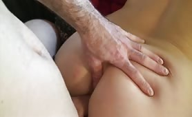 Masseuse gives her all during a session