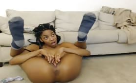 two hot ebony babes playing on cam