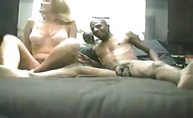 Real Amateur hotwife sucks and fucks black man