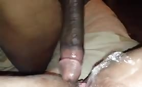 Squirting on his cock