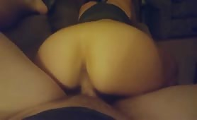 MILF rides cock and gets pussy filled with cum
