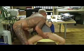 German MILF with tattooed boyfriend