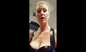 Hot milf rides cock and dildo