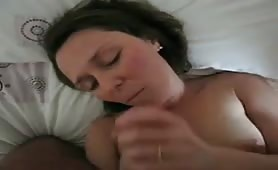 Naughty wife loves to eat cum
