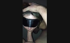 Kelly clamped cuffed and worships my dick