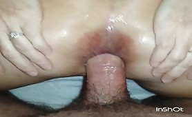 My wife letting me use her ass after BBC