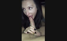 Sexy milf sucking a younger cock