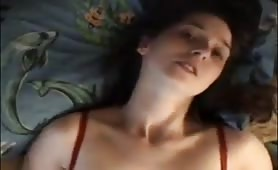 Teen selfie facial expression orgasm