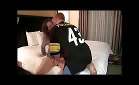 Fucking a loud thick girl in hotel