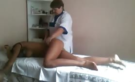 Hot russian model getting a massage