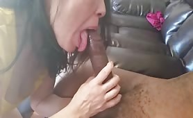 My asian wife loves sucking 12in BBC