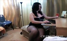 RUSSIAN THICKNESS TOPDOG homemade amateur brunette stockings ass webcam