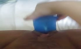 Blue dildo