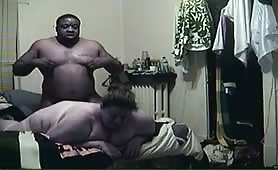 Large Black Guy Fucking A White BBW