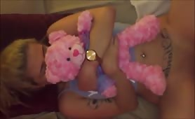 Cute Blonde Teen Princess gets Fucked by Boyfriend