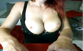 Red Head Plays with her Nipples