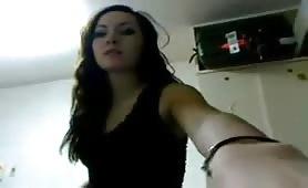 sexy Brunette in Her Room