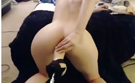 Hot milf takes huge dildo in the ass