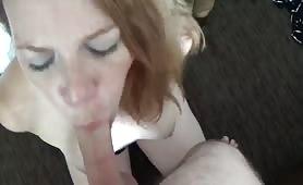 Amateur Redhead Blowjob Rimjob Fuck to facial