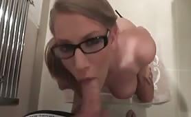 Stunning GF Sucks Cock