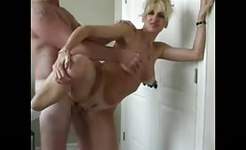 Blonde MILF Fuck and Creampie