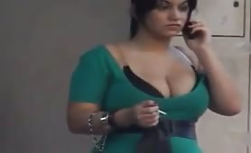 Candid Huge Boobs Green Smoke