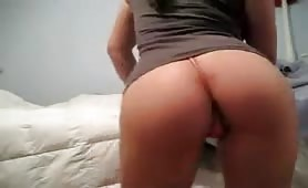 Hot Asian Girl Booty Shaking