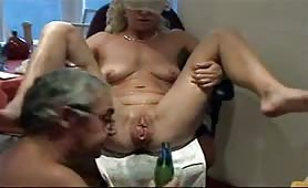 Mature cums hard
