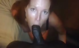 Married slut sucking bbc
