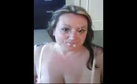 cum covered girlfriend compilation pt. 34