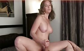 Lovely handjob and riding