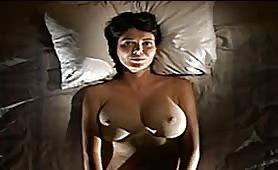 POV big tits on a bed