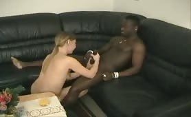 German amateur porn debut with a black guy