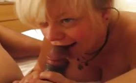 Sucking a black cock + anal close up