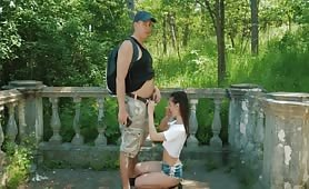 Cutie gets properly dicked outdoors