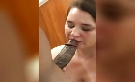 Chubby wife takes black dick