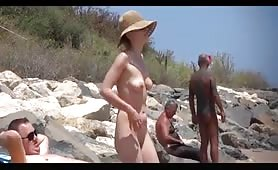 Nudist old lovers