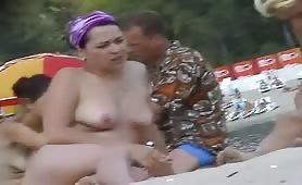 Perky tits and firm asses caught on beach