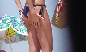Hot ass in thong bikini