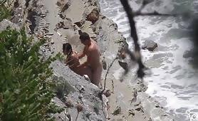 Hardcore doggy style beach sex