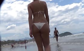 Just walking on the beach