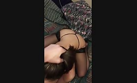 Sexy 18 year old brunette face fucked